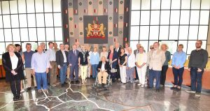 Hannover Visit 2016 - Group photo in Hannover Town Hall