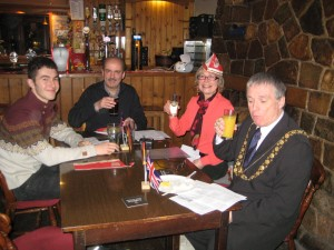 Rosenmontag party with the Lord Mayor.