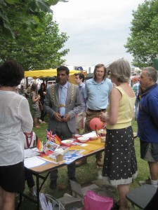 The Lord Mayor of Bristol visits the BHC stall